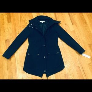 Kenneth Cole Navy Blue Women's Trench Coat Size XS